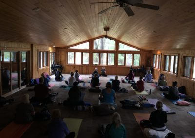 Yoga in the Lodge